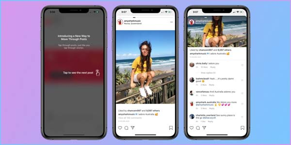 Outcry as Instagram tries horizontal scrolling